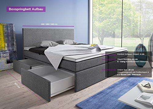 Luxus Boxspringbett mit Bettkasten Modell Roma kaufen  Bild 1*