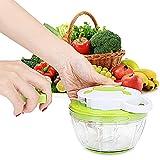 Cortador verduras,Picadora de carne,Picadora de verduras Manual de 470ml,3 Cuchillas Giratorio de...