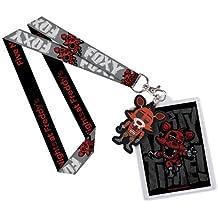Five Nights at Freddys Llavero Con Cinta & Llavero Caucho Foxy