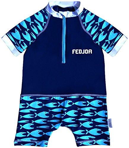 FEDJOA - Maillot Anti-UV bébé - AQUARIUS - Combinaison anti sable
