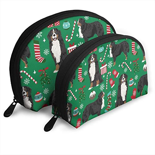 Breed Christmas Stockings Pet Customized Portable Bags Clutch Pouch Storage Bag Cosmetic Bag Purse Travel Storage Bag Shell Shape One Big and One Small for Women ()