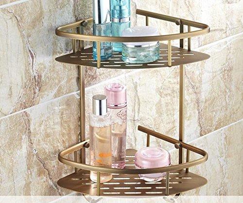 KIEYY Antiken europäischen Stil Badezimmer WC eingebaute Ablagen Handtuchhalter Handtuchhalter Paket voller Messing Badewanne hardware Element festlegen, die dreieckige Platte in doppelter Warenkorb
