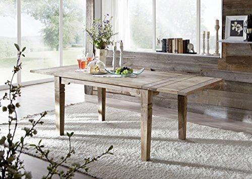 Table à manger extensible 140-220x90cm - Bois massif de palissandre huilé - Style Colonial/Ethnique - LEEDS #52