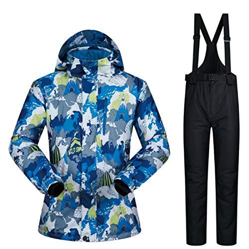 WAVENI Winddichte Regenjacke der Männer, Wasserdichte Gebirgsski-Jacke-Schneeanzug (Color : 02, Size : XL)
