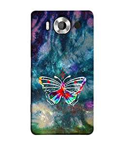 PrintVisa Designer Back Case Cover for Microsoft Lumia 950 :: Nokia Lumia 950 (beautiful insect butterfly in Dark Colour Background)