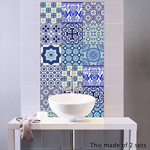 10 Piezas 3D Decorativos Adhesivos Azulejos Pegatina