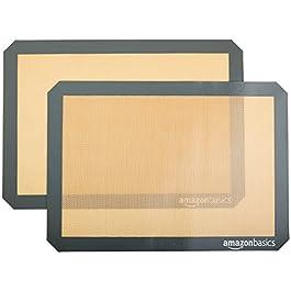 AmazonBasics – Tappetini da forno in silicone, Set da 2 pezzi