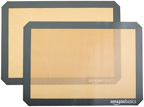 AmazonBasics - Tappetini da forno in silicone, Set da 2 pezzi
