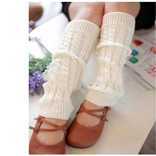 8m WAWO Fashion Knie Hohe Bein Kofferraum Socken Winter Kabel Knit Crochet Warmers Leggings für Frauen Lady Young Teen Mädchen (Womens Knit Leggings)