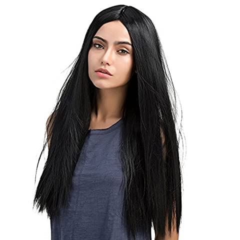 Costumes Bouclés Noir Costume Wig - Mufly Perruque Synthétique fibre Synthétique Wigs 26