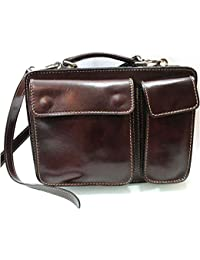 Superflybags Borsa Uomo Piccola Porta Tablet Vera Pelle Made in Italy modello Classic M 28x20x9