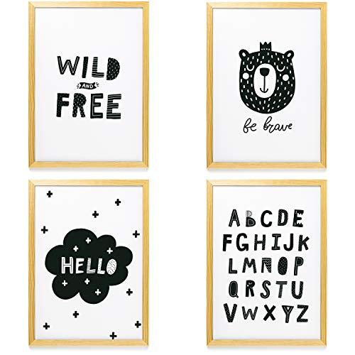 Heimlich® Premium Poster (4 Stück in DIN A4) | Große Auswahl an Motiven im Shop | auch mit Rahmen » Kinder-Zimmer 3 «