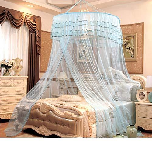 Moskitonetz für Bettüberdachung Extra große Größe rundes Bett-Baldachin-Moskitonetz für Kinderbett, Twin, Full, Queen, King-H 135x200cm (53x79 Zoll) (Farbe : M, Größe : 180x200cm(71x79inch)) - Bett Baldachin-twin