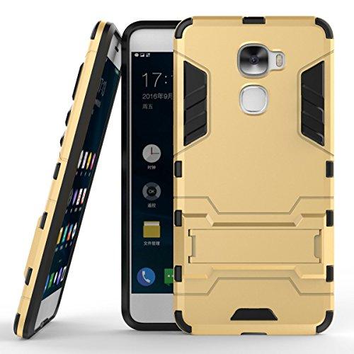 LeEco Le Pro 3 Hülle, 2 in 1 Hybrid Case Heavy Duty Rugged Hard Case Shock Resistant mit Standfuß Backcover Case Handy Schutzhülle Schale Tasche Cover für Letv LeEco Le Pro 3 / Le Pro3 X720 (Gold)
