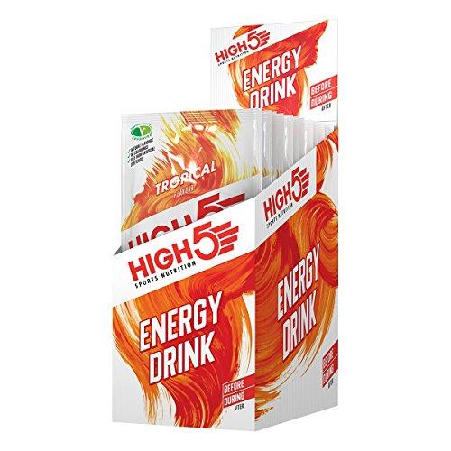 High5 High5 Bebida Energética Hidratante - Bebida Refrescante Con Mezcla Vegana De Carbohidratos Y Electrolitos - Tropical - 12 Bolsitas Energéticas De 47 Gramos 640 g