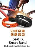 FANCY CHERRY® Bluetooth Smart Armband, Schrittzähler, Fitnessarmband mit Herzfrequenzmesser, Fernbedienungskamera, Schlafanalyse (Blue) - 6