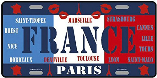 Targa americana collezione paesi del mondo francia 2