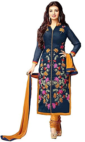 Rensila-Womens-Cotton-Dress-Material-with-dupatta-RFJugni-Flower-Dress1TP-Dress-MaterialNavy-BlueFree-Size
