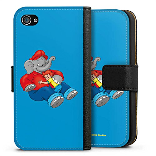 Apple iPhone X Silikon Hülle Case Schutzhülle Benjamin Blümchen Fanartikel Merchandise Beste Freunde Sideflip Tasche schwarz