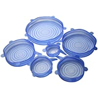 ECYC® 6pcs / lot Universal Silicone Lid-bowl Etui Cover Kitchen Tool, Bleu