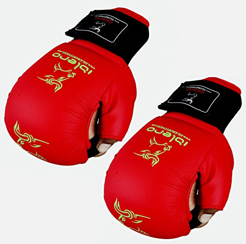 M L Oder XL LCP Boxhandschuhe MMA UFC Kampfsport Taekwandoo Grapling Sparring Boxsack Punching Material Arts Eco Leder Premium Variante Weiss in S