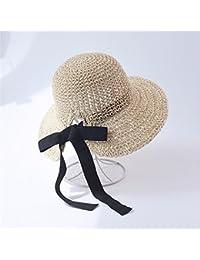 GQFGYYL Sombrero de Paja Mujer Verano Sombrero de Pescador Sunscreen  Protector Solar 1e01be156d2