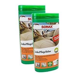 SONAX 2X 04123000 LederPflegeTücher Box 25 Stück