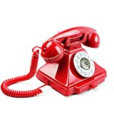 CCF Telefon-Seil örtlich festgelegtes Überland-Antikes Telefon-Retro- europäische Art-Kreatives Innenministerium-Hotel ITMTH (Farbe : Red, größe : L18.5CM*H16CM)