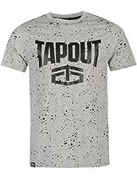 Tapout Herren Splatter T Shirt Kurzarm Rundhals Baumwolle Regular Fit Print