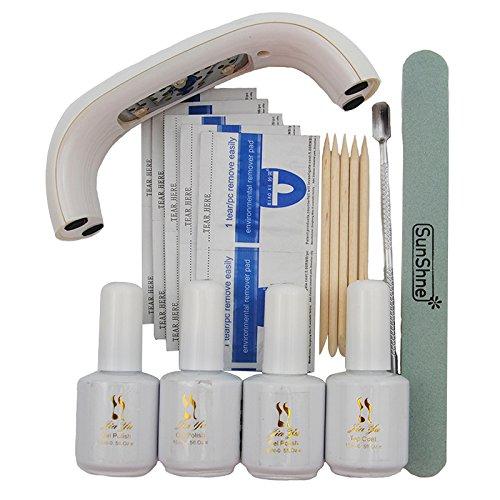Coscelia 9W USB Ligne Mini Lampe à Séchoir LED Blanc Vernis à Ongles Semi-Permanent Outils Kit