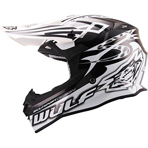 ss Helmet S Black/White (Gold Atv Helm)