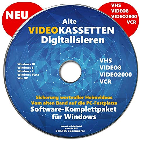 VHS Video-Kassetten selber digitalisieren Software Komplettpaket PREMIUM NEU