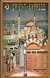 Blechschild Nostalgieschild Orient Express Paris Istanbul Eisenbahn retro Schild