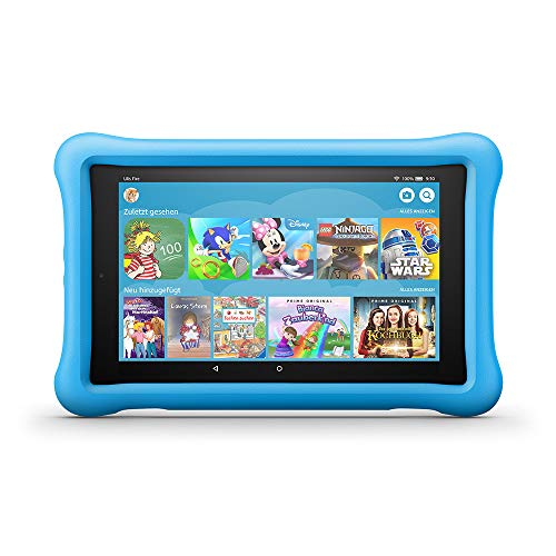 Fire HD 8 Kids Edition-Tablet, 8-Zoll-HD-Display, 32 GB, blaue kindgerechte Hülle (Fall Samsung 7-zoll-kinder 3 Tablet)