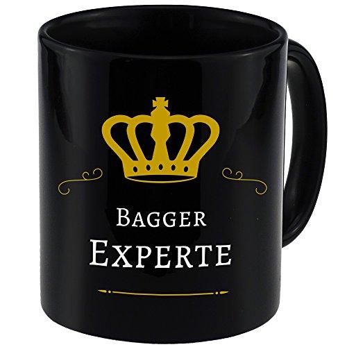 Tasse Bagger Experte schwarz