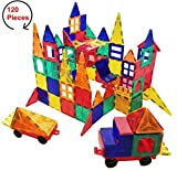 #3: #1 STRONG - 120 Piece Magnetic Building Tiles Set for Kids - Magna Toy Blocks for Educational and Learning - Perfect gift for Boys or Girls