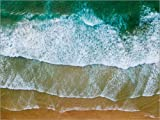 ALU Dibond 80 x 60 cm: Beach Shore in Algarve, Portugal de Radu Bercan