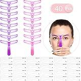 40 Stücke Augenbrauen Schablonen Kit Augenbrauen Schablonen Set Gestaltung Schablonen Augenbraue Zeichnung Karte 3 Farben DIY Makeup Werkzeuge