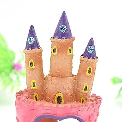 Bobury Pink Princess Castle Fish Cave Aquarium Ornament Fish Tank Decoration 3