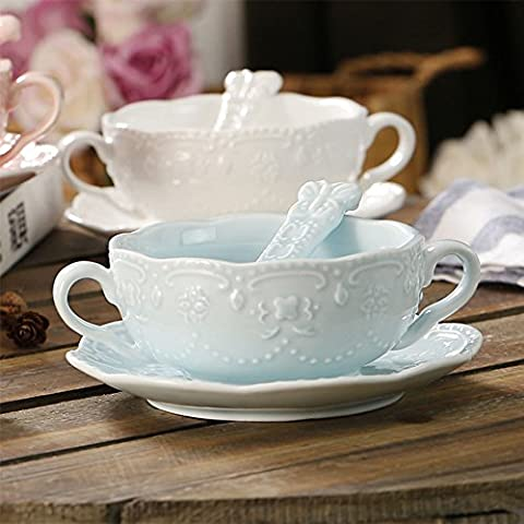 Touch Life Elegant Cute Breakfast Cup Dessert Bowls Soup Mug