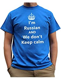 Nutees I'm Russian And We Don't Keep Calm Funny Mens T Shirt - Royal Blue