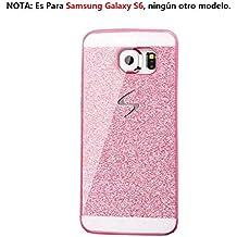 Malloom®para Samsung Galaxy S6 lujo diamante cristal rhinestone caso y la cubierta Fundas y Carcasas (rosa)