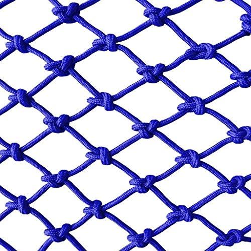 Wlh Kinder Haustiere Outdoor Sicherheitsnetz Schutznetz Balkon Treppen Fallen Net Farbe Dekorative Net Nylon Mesh Zaun (Farbe: Blau) (größe: 8mm Seil 6 cm Loch) (Size : 3 * 6m)