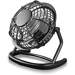 CSL - Mini Ventilateur USB | modèle Mini Ventilateur de Bureau Fan | pour Ordinateur Ordinateur Portable | Noir