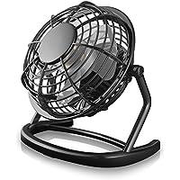 CSL - Mini Ventilateur USB | nouveau modèle Mini ventilateur de bureau/Fan | pour ordinateur/ordinateur portable | noir