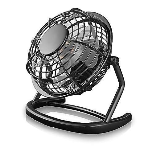 CSL - Mini Ventilateur USB | nouveau modèle Mini ventilateur de bureau / Fan | pour ordinateur / ordinateur portable | noir