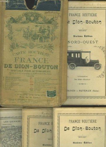 4 CARTES DE FRANCE ROUTIERE AU 1/900.000e. NORD-EST / SUD-EST / NORD -OUEST / SUD-OUEST.