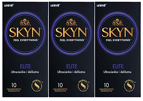 SKYN Elite Kondome 30 Stück Kondome (Box mit 10 x 3 Stück) nicht latex- und latexfrei