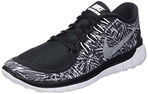 Nike Wmns Free 5.0 Print, Scarpe da Corsa Donna, (Black/White-White), 39 EU