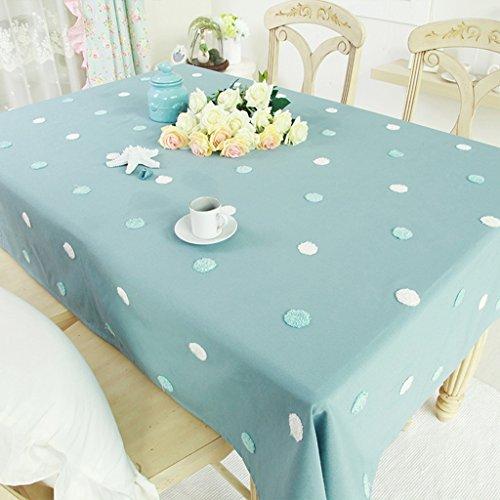 HJHY Tischdecke, Modern Simple Style Polyester Cotton Couchtisch Handtuchstickerei Speisen...